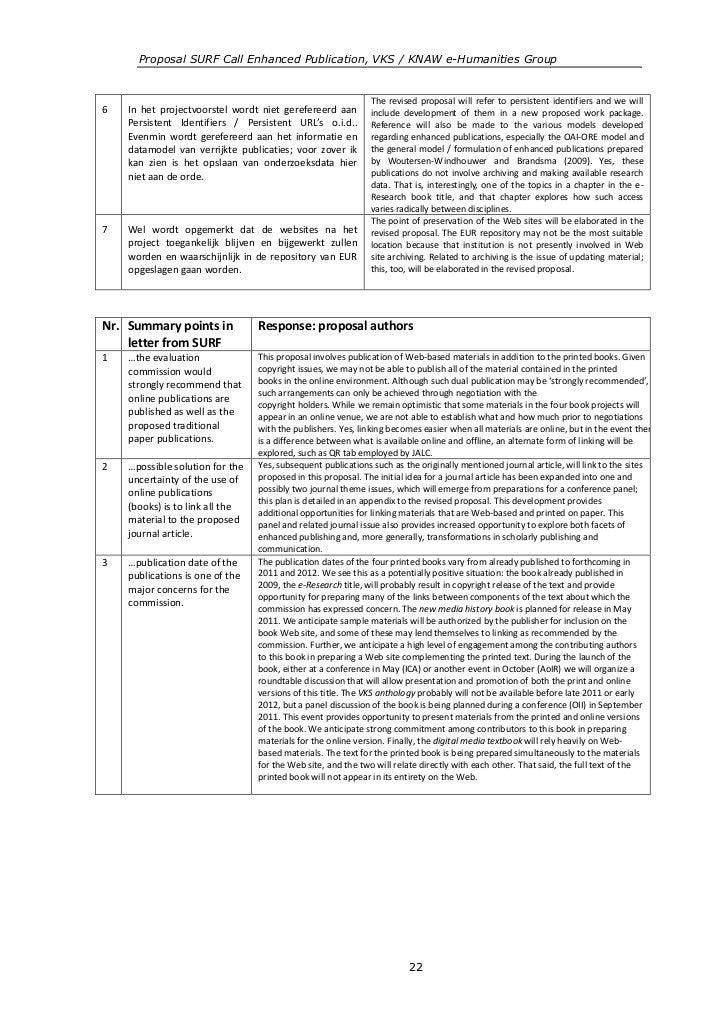 Proposal SURF Call Enhanced Publication, VKS / KNAW e-Humanities Group                                                    ...