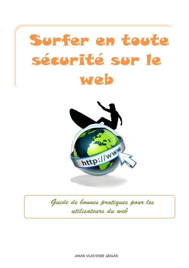 Surfer en toute sécurité sur le web AMAN VLADIMIR GNUAN