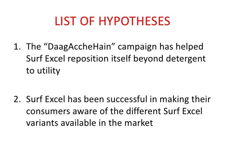 analysis of surf excel 1current marketing situation  surf excel is a product of unilever which is at growth stage as it has large market  swot and issues analysis.