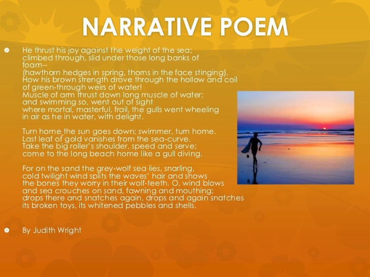 narrative poem examples - photo #34
