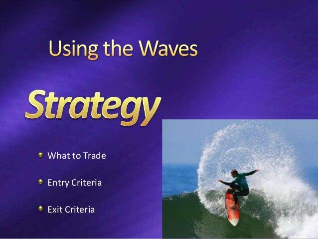 What to Trade Entry Criteria Exit Criteria