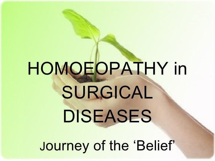 Homeopathy in surgical disorders