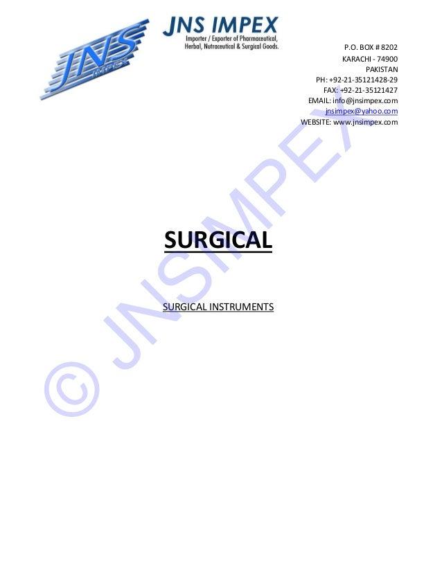 Surgical List - JNSImpex