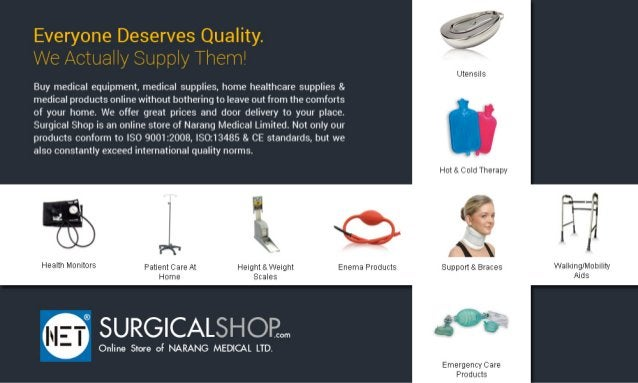 Everyone Deserves Quality.  We Actually Supply Them'  Buy medical equipment,  medical supplies,  home neallncare supplies ...