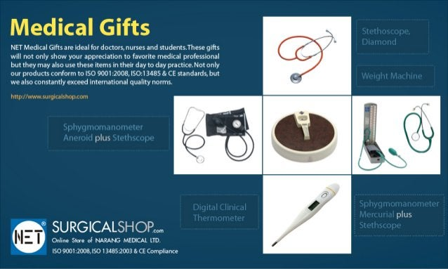 Medical Glfts  NET Medical Gifts ale ideal for doctors,  nurses and studems. These gifts will not only show your appreciat...