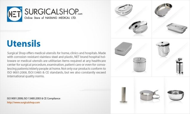 SURGICALSHOP. .. Q @  Onlina snare of NARANG MEDICAL LTD.   Utensils  Surgical Shop offers medical utensils for home,  cli...