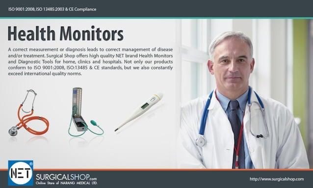 ISO 9001 :1oos.  I50 I 34351003 L (E cornpiianee  Health Monitors  A (orrect rneasuremenr or diagnosis leads ro correct ma...