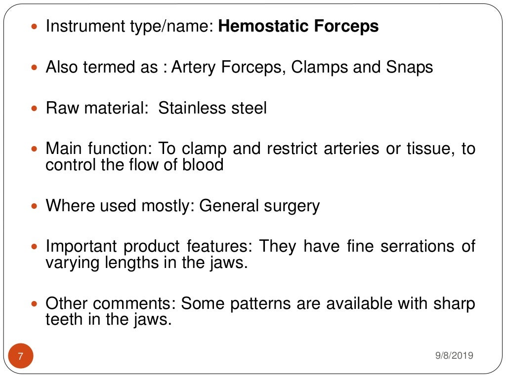 Surgical and medical devices page 7
