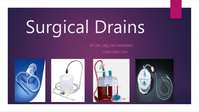 Surgical Drains BY DR LAIQ MUHAMMAD TMO SBW STH