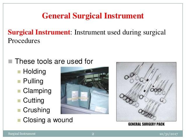 Surgical instruments Slide 2
