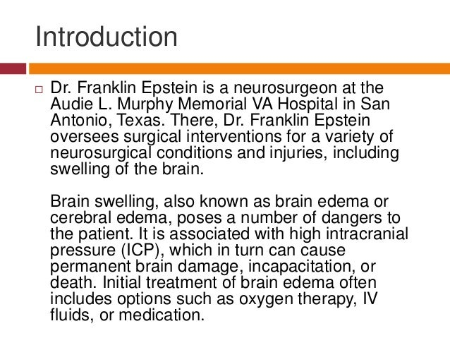 Surgical Intervention For Brain Swelling