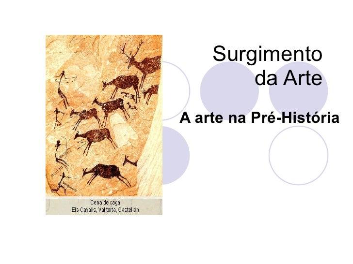 Surgimento da Arte A arte na Pré-História