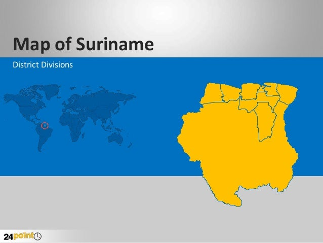 Map of Suriname District Divisions