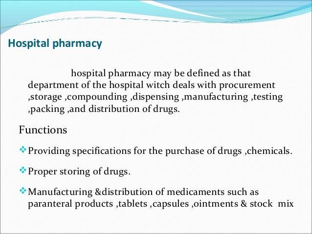 Drug Distribution In Hospital Pharmacy