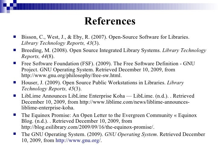 Open Source Software In Libraries