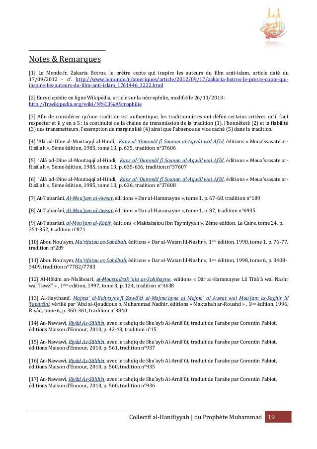 Notes & Remarques [1] Le Monde.fr, Zakaria Botros, le prêtre copte qui inspire les auteurs du film anti anti-islam, articl...