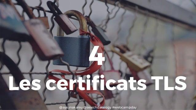 @aysunakarsu @searchdatalogy #webcampday 4 Les certificats TLS