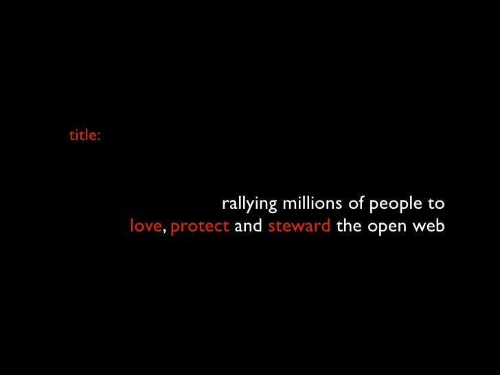title:  what's next for open?                      rallying millions of people to          love, protect and steward the o...