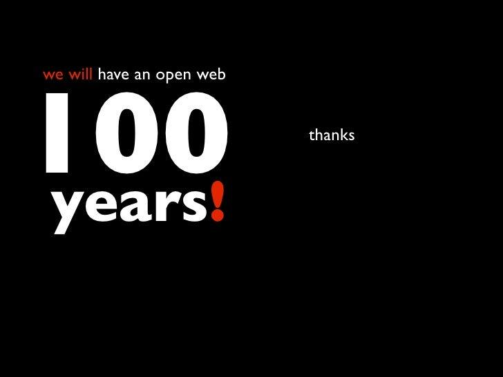 I heart the open web