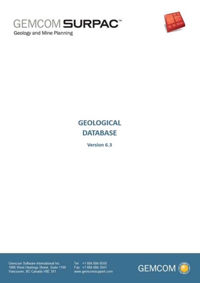 surpac geological modelling 3 rh slideshare net Surpac Tutorial PDF Gemcom Gems