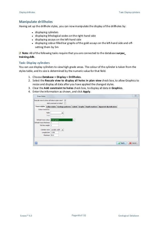 surpac training manual open source user manual u2022 rh dramatic varieties com Surpac 6.2 Tutorial surpac training manual