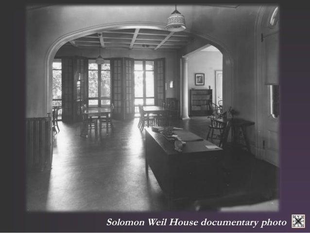 Solomon Weil House documentary photo