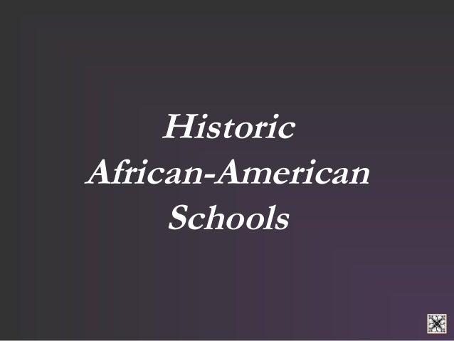 Historic  African-American  Schools