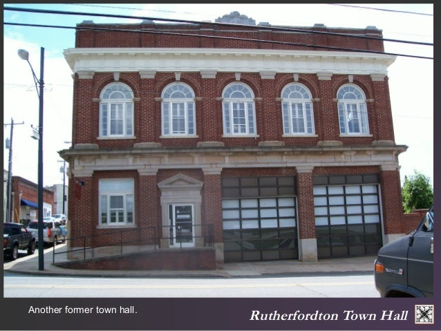 Another former town hall. Rutherfordton Town Hall