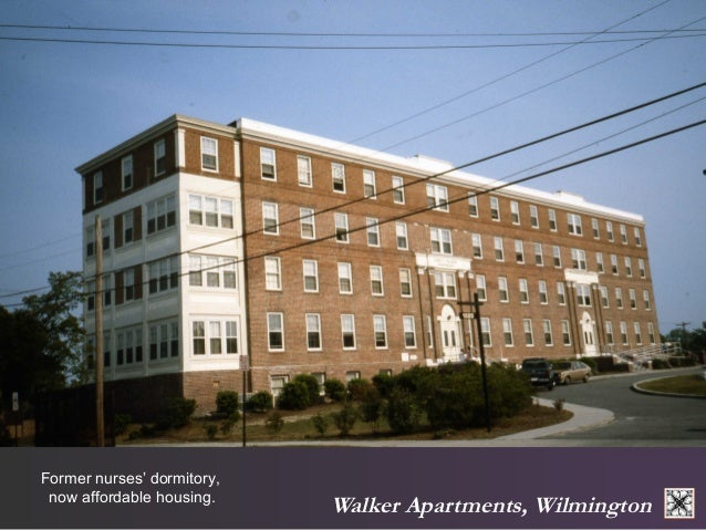 Walker Apartments, Wilmington  Former nurses' dormitory,  now affordable housing.