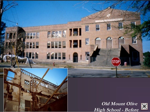 Old Mount Olive  High School - Before