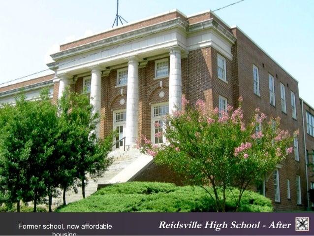 Reidsville Former school, now affordable High School - After  housing.