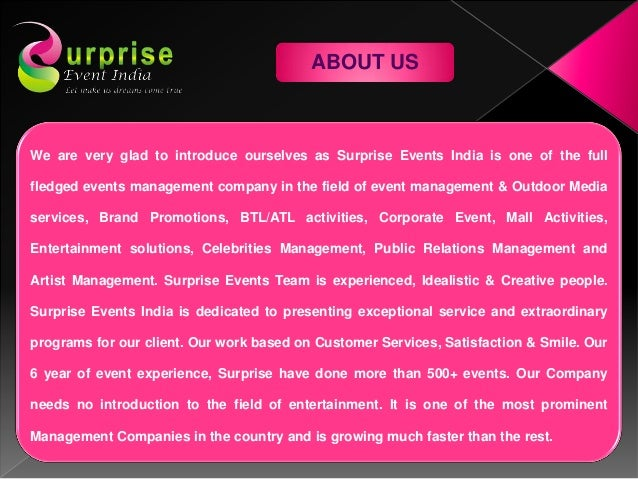 Surprise events india Slide 3