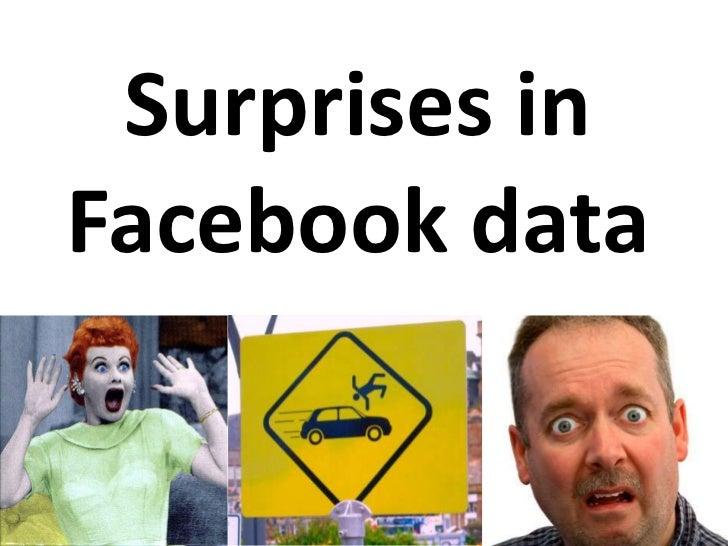 Surprises inFacebook data