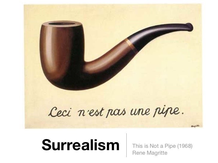 Surrealism   This is Not a Pipe (1968)             Rene Magritte
