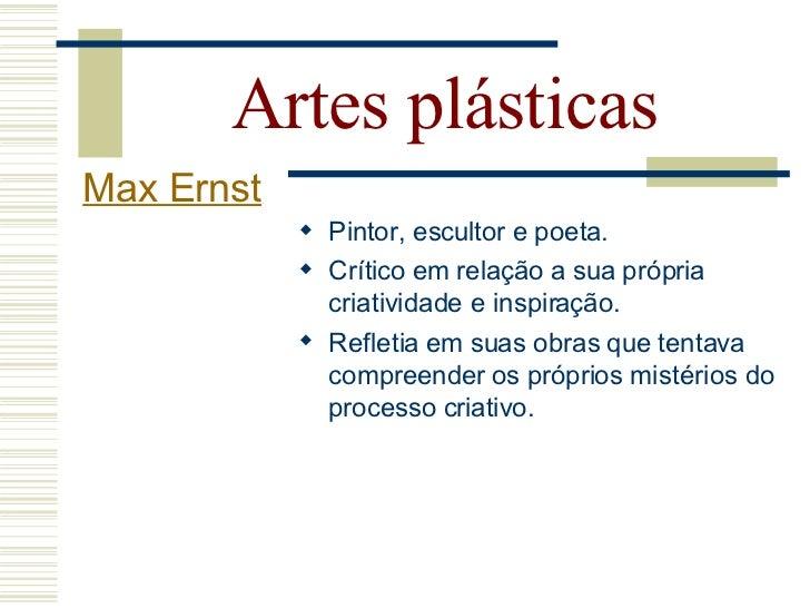 Artes plásticas Max Ernst                 Quadro para jovens