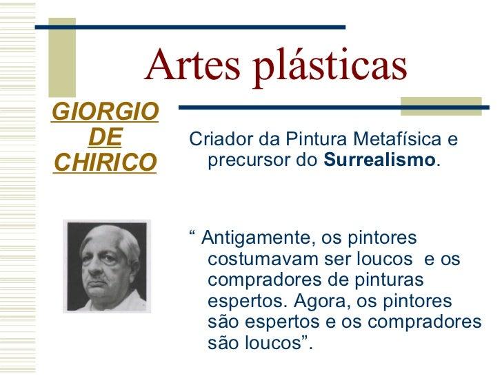Artes plásticas GIORGIO    DE CHIRICO    A dúvida do poeta
