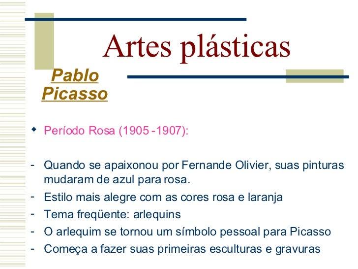 Artes plásticas  Pablo Picasso     Garçon à la pipe (1905)   Auto Retrato com capa (1905)