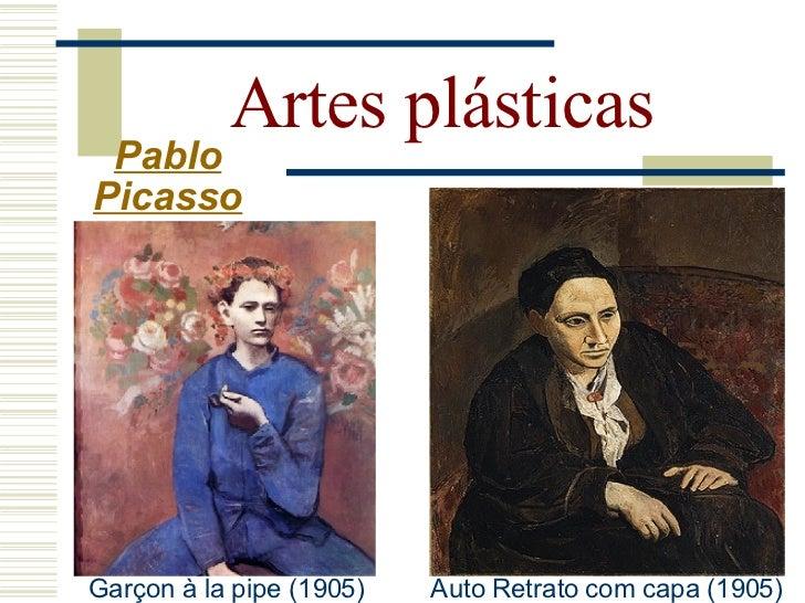 Artes plásticas   Pablo  Picasso  Período Africano (1907-   1909): - Começou com duas   figuras inspiradas na   África em...