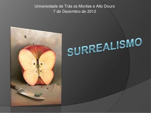 Universidade de Trás os Montes e Alto Douro          7 de Dezembro de 2012