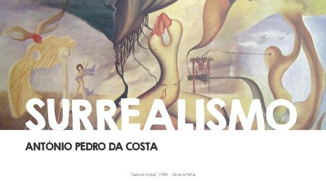"""SURREALISMO ANTÓNIO PEDRO DA COSTA """"Cadavre Exquis"""", 1948 – Vários artistas"""