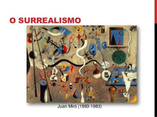 O SURREALISMOJuan Miró (1893-1983)