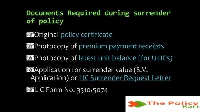 Surrender value