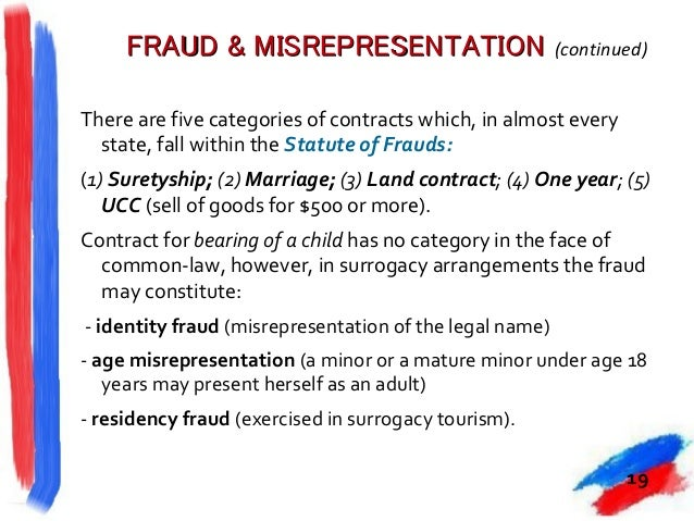 fraud invalidates a contract If one party enters into a contract because of the intentional misrepresentation of the other party, there's no valid contract because of fraud read more.