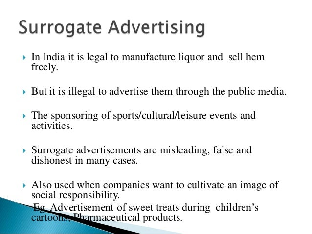 surrogate advertising definition