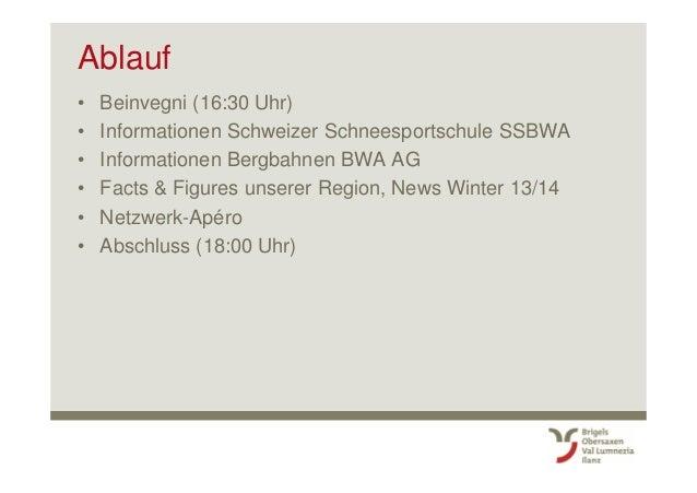 Surselva Tourismus AG: 2. Winter Kick-Off fuer Mitarbeitende mit Gästekontakt (Brigels-Waltensburg-Andiast) Slide 3