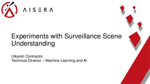 Surveillance scene classification using machine learning