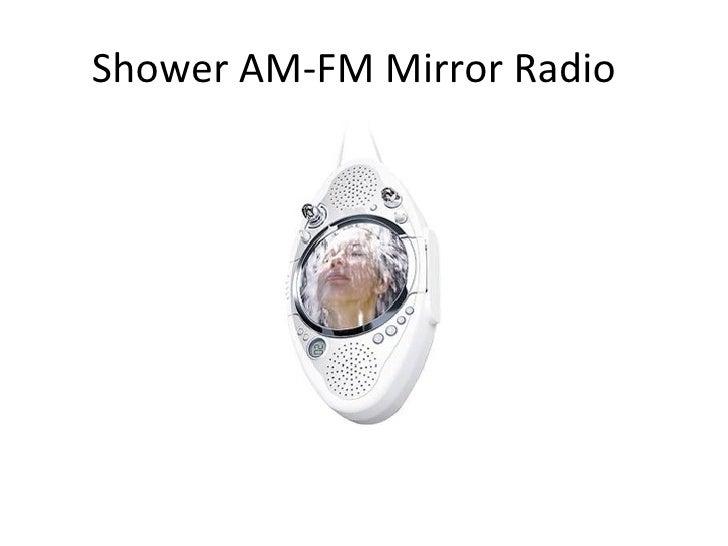 Shower AM-FM Mirror Radio