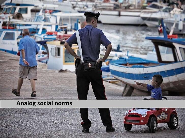 Analog social norms