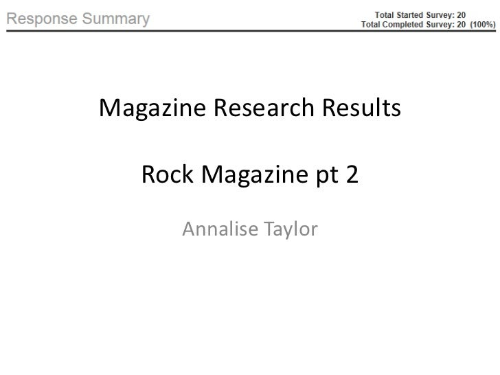 Magazine Research Results   Rock Magazine pt 2      Annalise Taylor