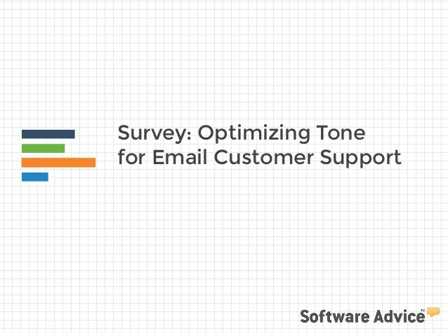 Survey: Optimizing Tone for Email Customer Support